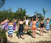 Four Directions Ceremony Laguna Bacalar Isla Womens Retreat