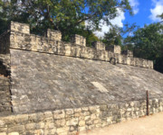 Ball court at Coba, ancient Mayan city